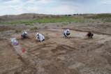 В древнем памятнике в Кат кале нашли античные предметы