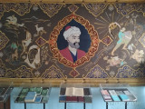 Золотошвейный ковёр созданный по произведению «Хамса» Алишера Навои