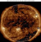 Солнечная вспышка нового цикла солнечной активности
