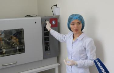 Mikrobiologiya instituti tashkil etilgan press-turdan fotolavha