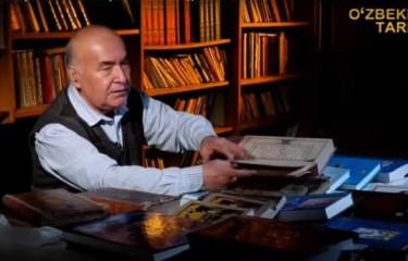 """""""Qadimiy qo'lyozmalar"""" - FA Temuriylar tarixi davlat muzeyi bo'lim mudiri t.f.d., prof. А.Madraimov"""